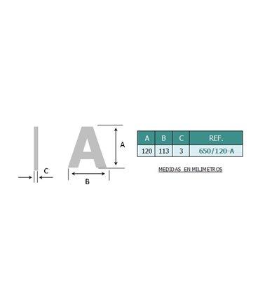 Lettres en acier inoxydable AISI 316 (Ref: 650 - 651)