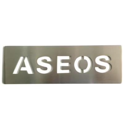 Pictograph en acier inoxydable-plaque Toilettes AISI 316 (Ref: 668)