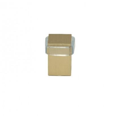 Butées de porte en laiton - fixation par vis (I-190) - Mat, Élastique Transparent