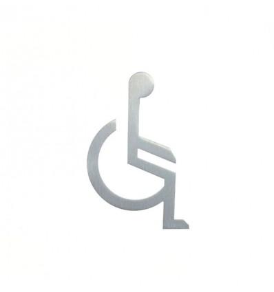 Pictograph en acier inoxydable- silhouette d'une person handicapé AISI 316 (Ref: 662)