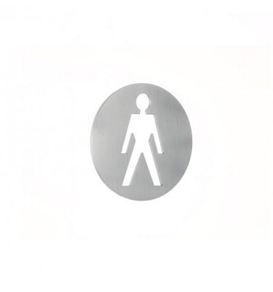 Pictograph en acier inoxydable -plaque d'un homme AISI 316 (Ref: 663)