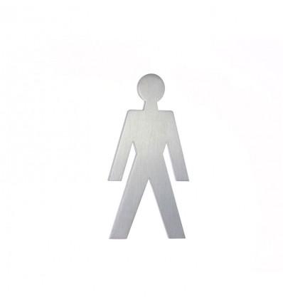 Pictograph en acier inoxydable- silhouette d'un homme AISI 316 (Ref: 660)