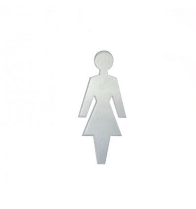 Pictograph en acier inoxydable- silhouette d'une femme AISI 316 (Ref: 661)
