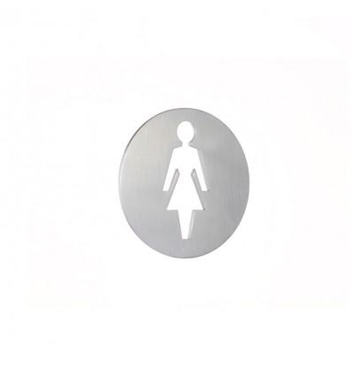 Pictograph en acier inoxydable-plaque d'une femme AISI 316 (Ref: 664)