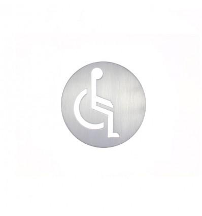 Pictograph en acier inoxydable-plaque d'une person handicapé AISI 316 (Ref: 665)