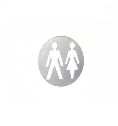 Pictograph en acier inoxydable -plaque d'un homme et femme AISI 316 (Ref: 666)