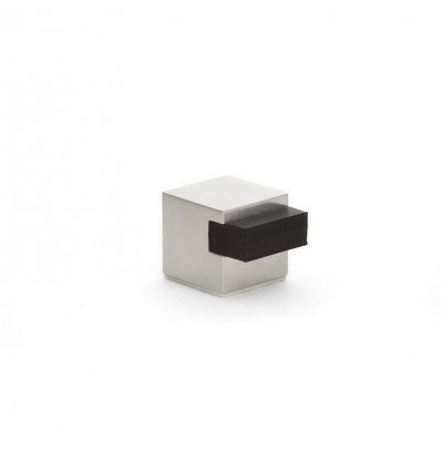 Butée de porte adhésif en acier inoxydable (I-197/25-H) - Elastique Noir