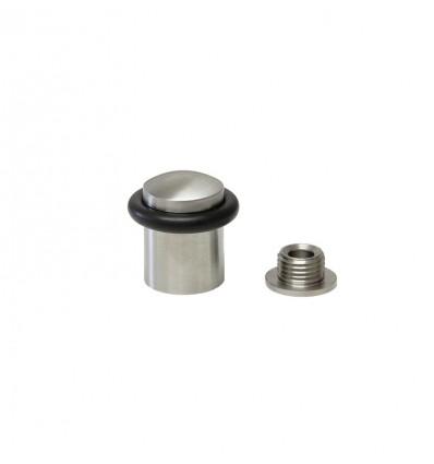 Butées de porte en acier inoxydable - fixation par vis (I-159) - Mat Elastique Noir
