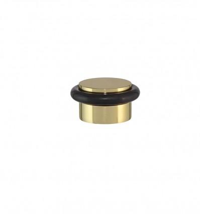Butée de porte adhésif en laiton - Brille Élastique Noir (I-103)