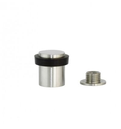 Butées de porte en acier inoxydable - fixation par vis - Mat Élastique Noir  (I-181-CB)