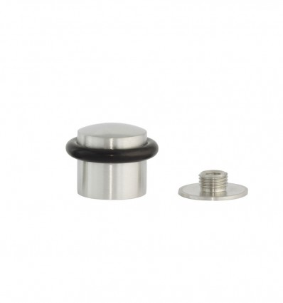 Butées de porte en acier inoxydable - fixation par vis (Ref: I-202/28)- Mat Elastique Noir