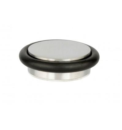 Butée de porte adhésif en acier inoxydable (I-203/35) - Elastique noir