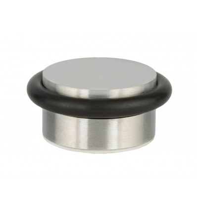 Butée de porte adhésif en acier inoxydable (I-204/35) - Elastique noir
