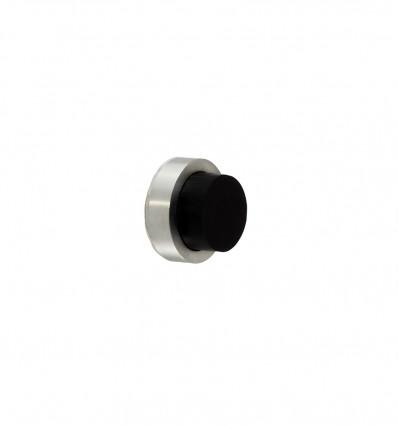 Butées de murs-poignée en acier inoxydable - Adhésif (Ref:I-205-24) - Mat Elastique Noir